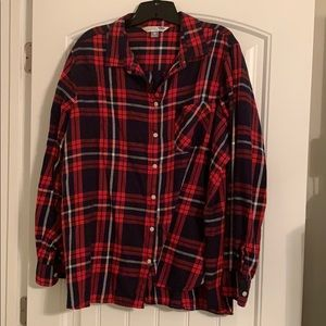 Old Navy button up plaid shirt.